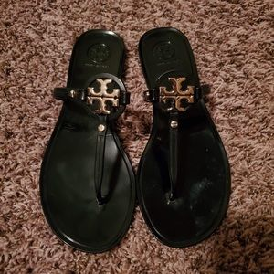 Tory Burch Black Jelly Thong Sandal